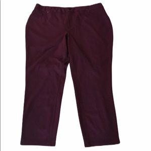 Cato burgundy pants size 22W inseam 29 in